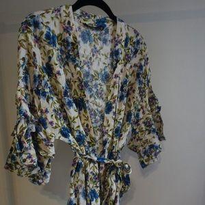 Zara floral wrap top